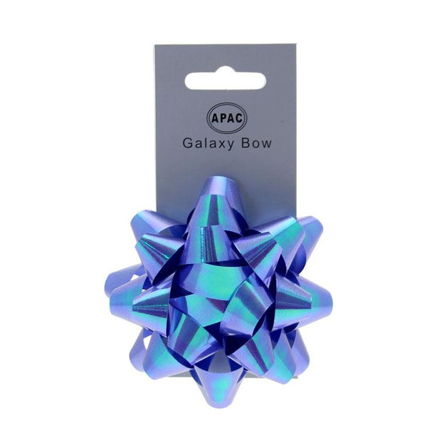 Blue Iridescent Medium Bow