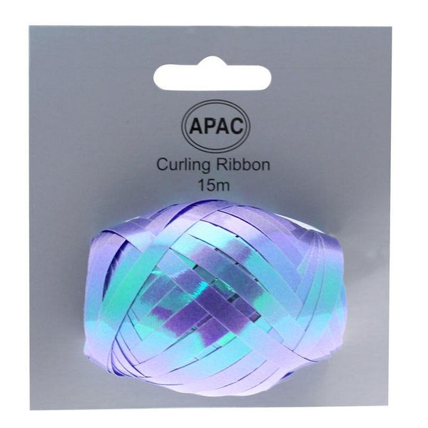 Blue Iridescent Ribbon Cops