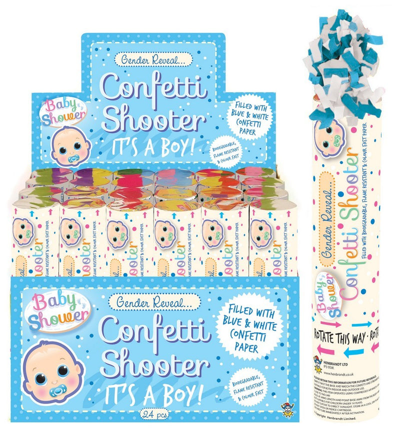 Confetti Shooter Gender Reveal - Blue