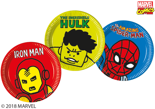 Marvel Avengers Pop Comic Plates