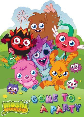 Moshi Monsters Party Invites