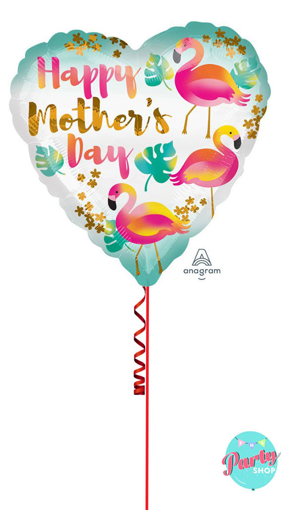 Mothers Day Flamingo Foil
