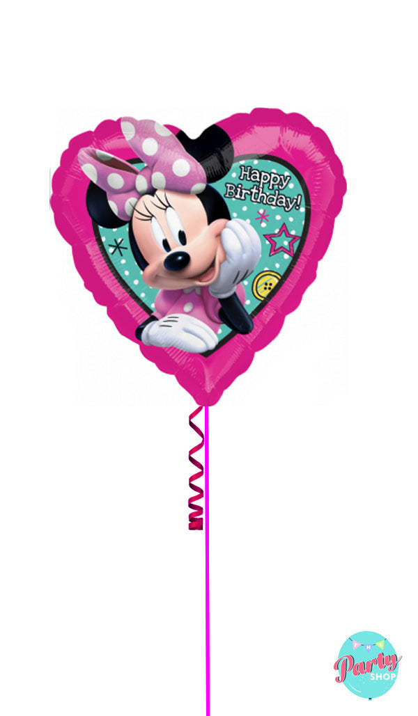Inflated Minnie Mouse Happy Birthday Foil