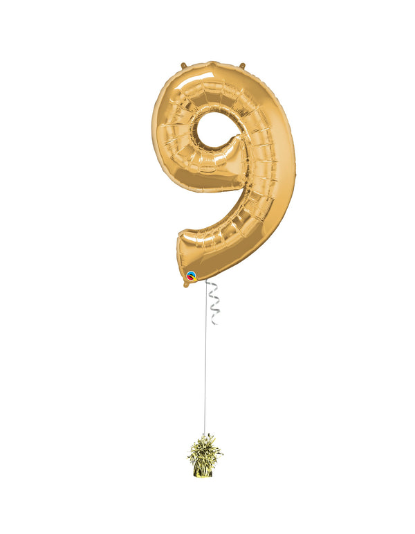Inflated Jumbo Number 9 Gold