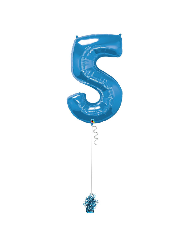 Inflated Jumbo Number 5 Blue