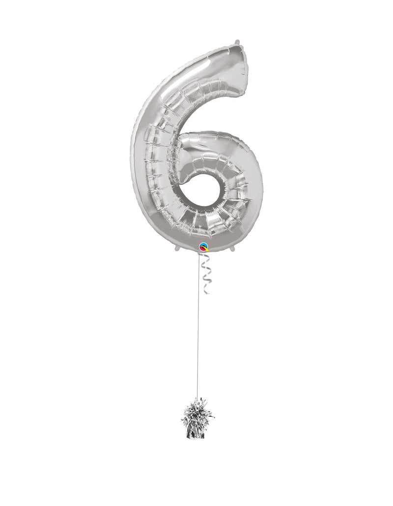 Inflated Jumbo Number 6 Silver