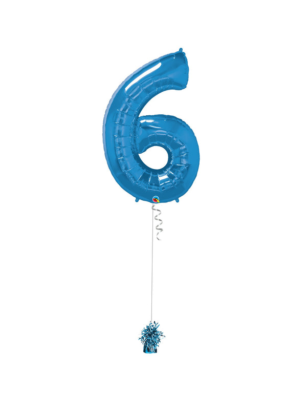 Inflated Jumbo Number 6 Blue