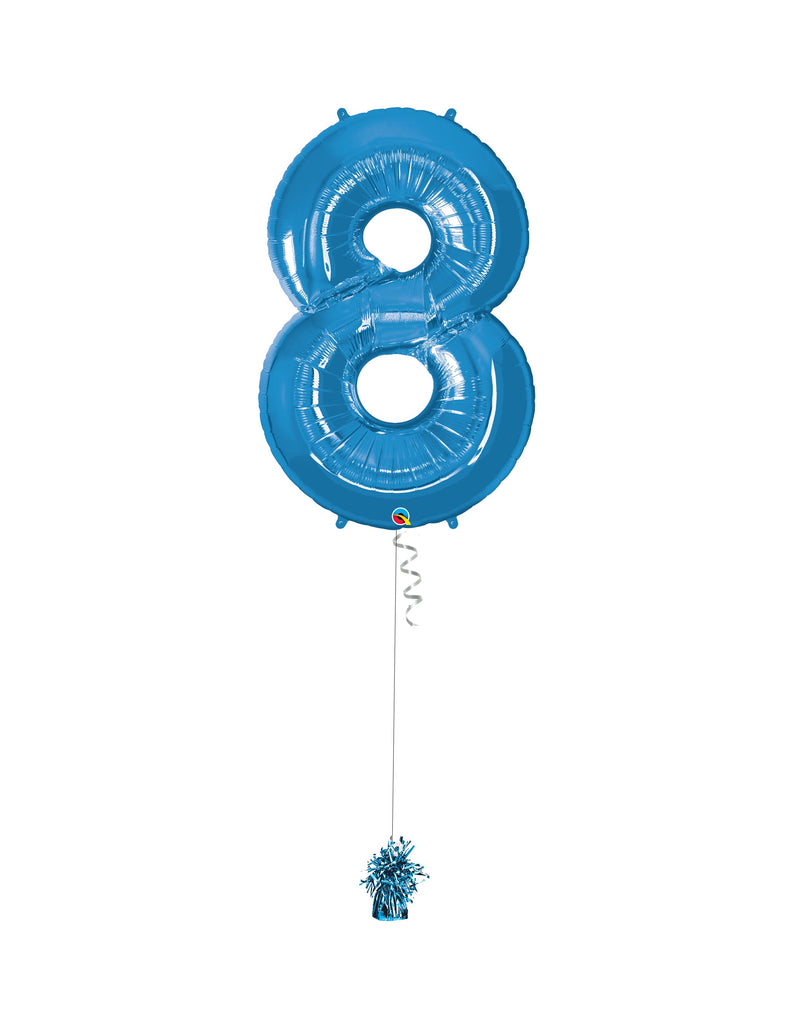 Inflated Jumbo Number 8 Blue
