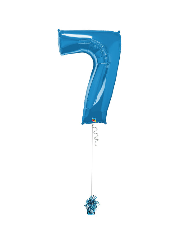 Inflated Jumbo Number 7 Blue
