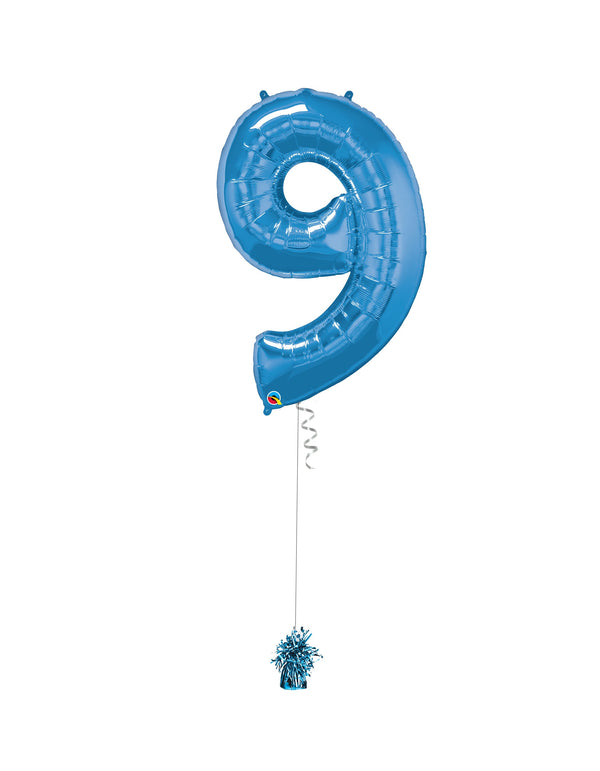 Inflated Jumbo Number 9 Blue