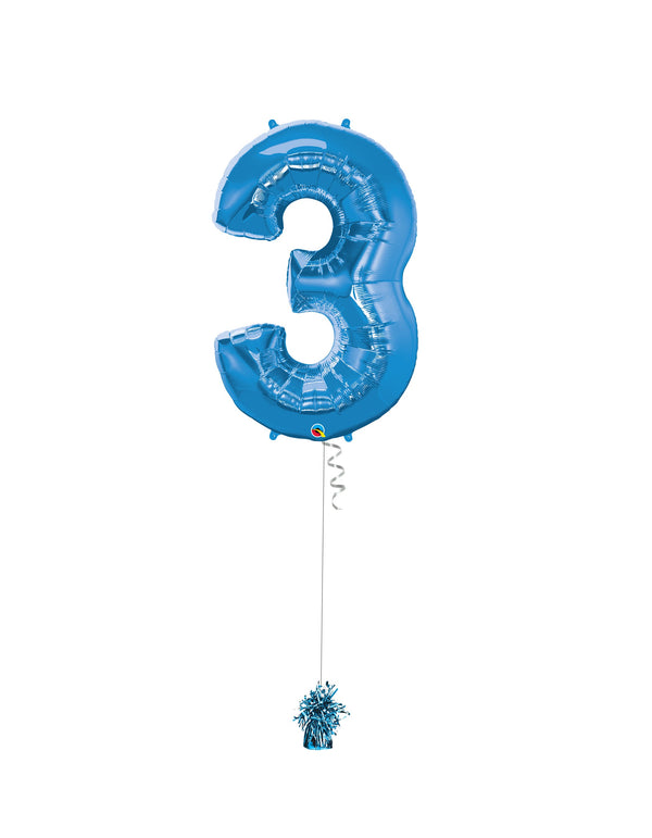 Inflated Jumbo Number 3 Blue