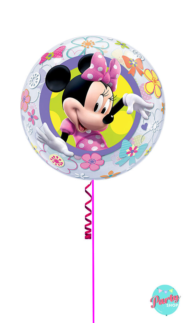 Inflated Minnie Mouse Bubble Balloon
