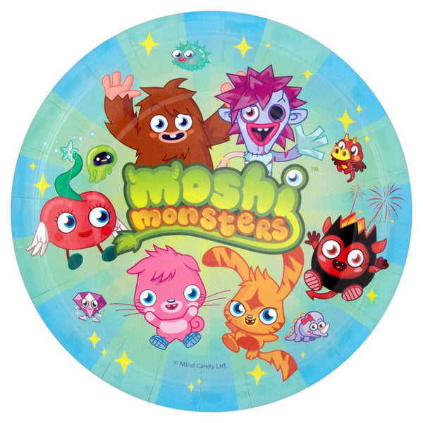 Moshi Monsters Birthday Plates