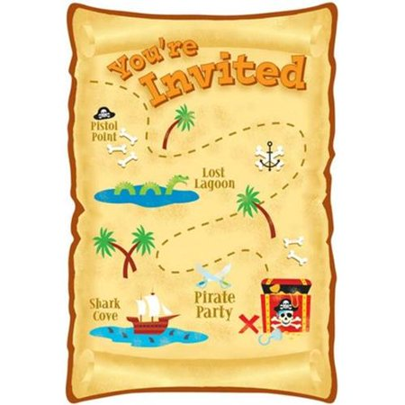 Pirate Party Maps Invitations