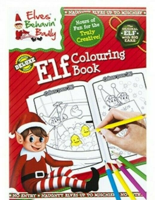 Elves Behavin' Badly - Colouring Book & Stickers