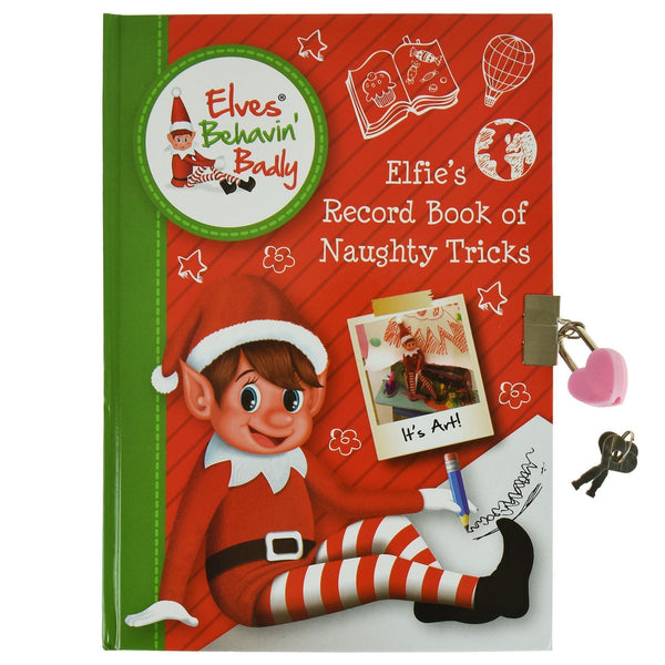Elves Behavin' Badly - Notebook With Lock