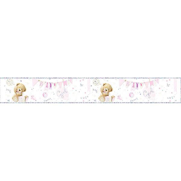Baby Girl Large Foil Party Banner