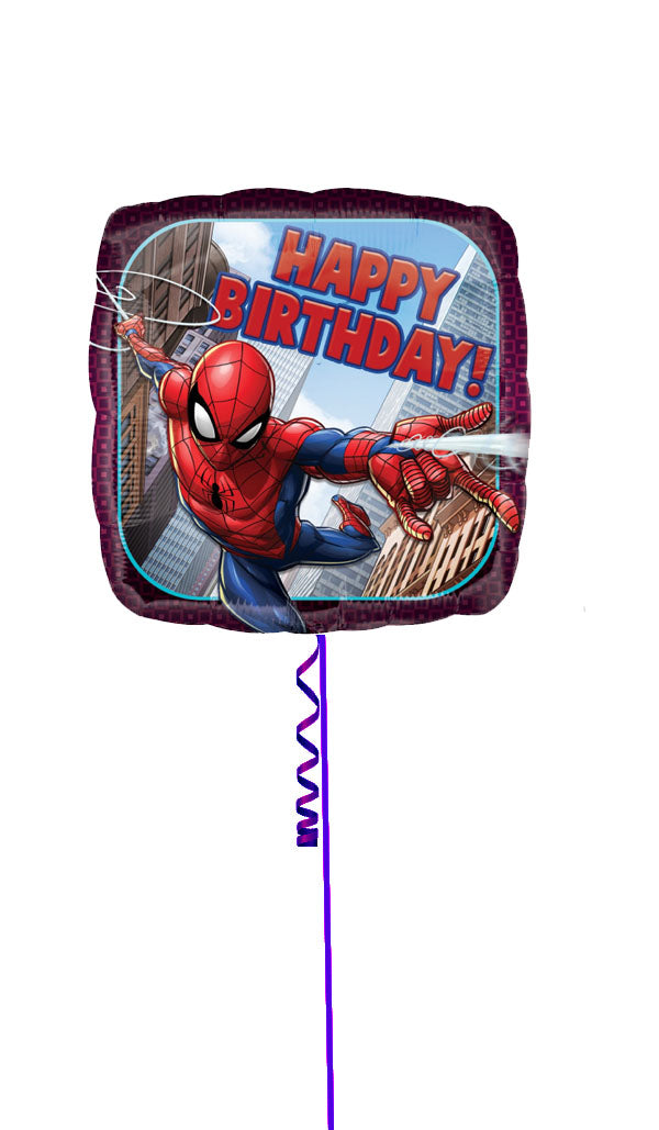 Inflated SpiderMan Happy Bithday Foil
