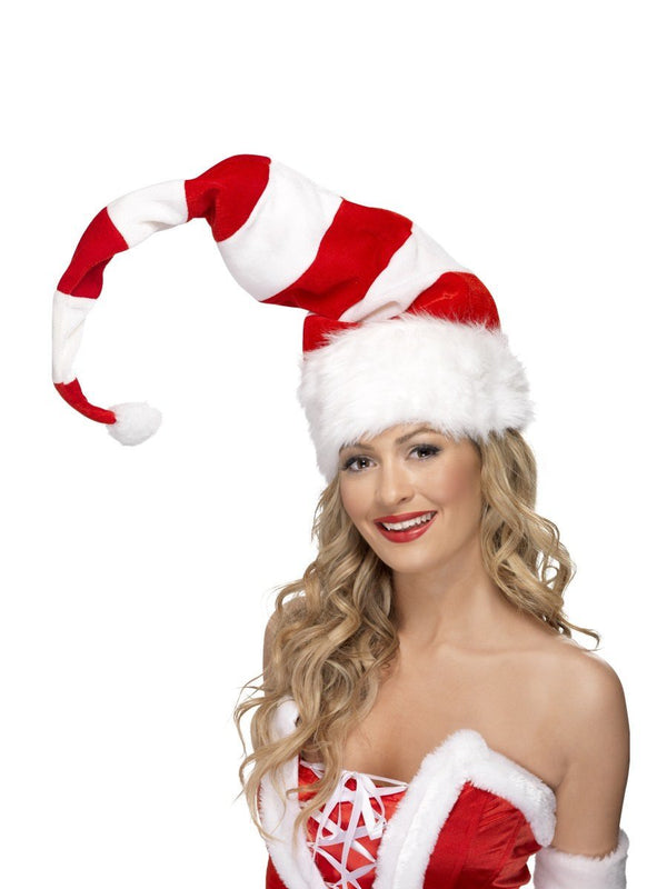 Striped Santa Hat Long