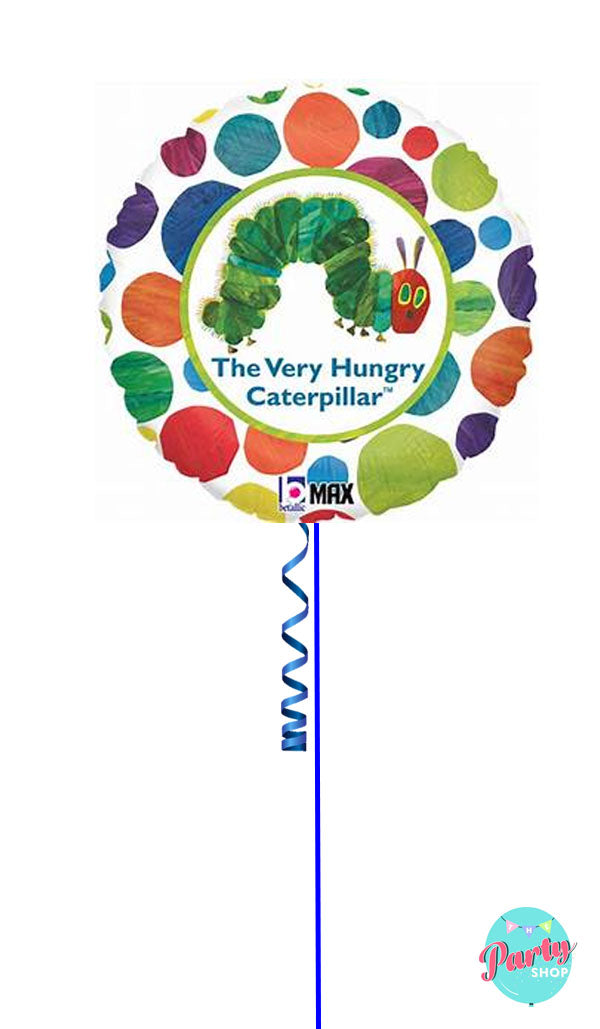 Inflated Hungry Caterpillar Foil Balloon