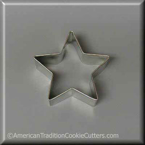 "2"" Star Metal Cookie Cutter - American Tradition Cookie Cutters"