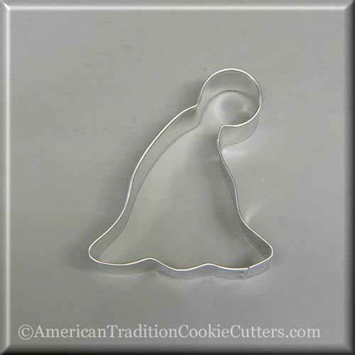 "3.75"" Elf, Party, Ski Hat Metal Cookie Cutter"