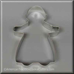 "5"" Gingerbread Girl Metal Cookie Cutter-americantraditioncookiecutters"