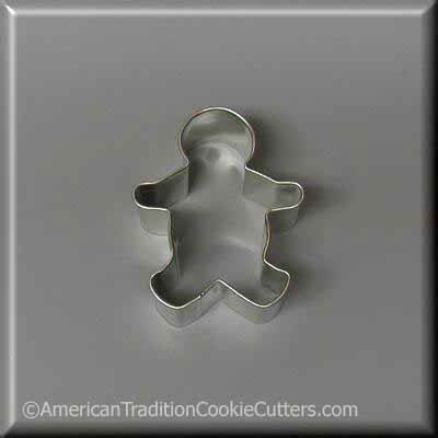 "2.25 ""Mini Gingerbread Boy Metal Cookie Cutter - American Tradition Cookie Cutters"