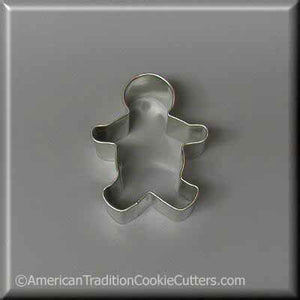 "2.25"" Mini Gingerbread Boy Metal Cookie Cutter - American Tradition Cookie Cutters"
