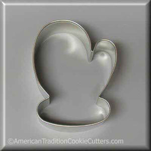 "3.5"" Mitten Metal Cookie Cutter - American Tradition Cookie Cutters"