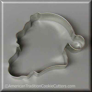 "4"" Santa Face Metal Cookie Cutter-americantraditioncookiecutters"