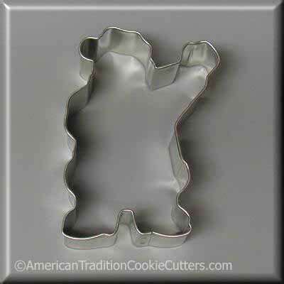 "3.75"" Waving Santa Metal Cookie Cutter - American Tradition Cookie Cutters"