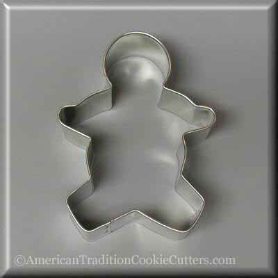 "3.5"" Gingerbread Boy Metal Cookie Cutter-americantraditioncookiecutters"