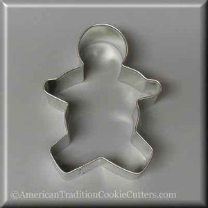 "3.5"" Gingerbread Boy Metal Cookie Cutter - American Tradition Cookie Cutters"