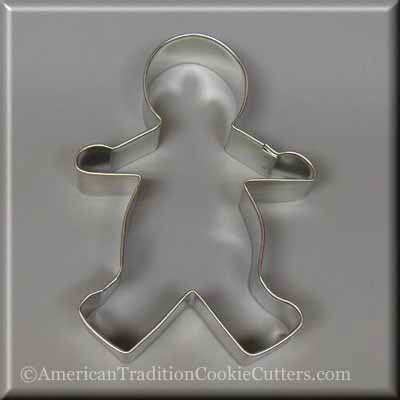 "5"" Gingerbread Boy Metal Cookie Cutter-americantraditioncookiecutters"