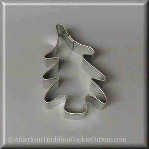 "3"" Folk Tree Metal Cookie Cutter-americantraditioncookiecutters"