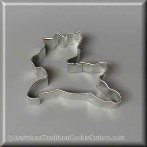 "3"" Reindeer Metal Cookie Cutter - American Tradition Cookie Cutters"