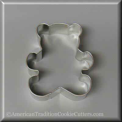 "3"" Teddy Bear Metal Cookie Cutter - American Tradition Cookie Cutters"
