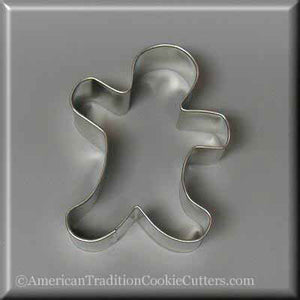 "3.5"" Folk Gingerbread Boy Metal Cookie Cutter - American Tradition Cookie Cutters"