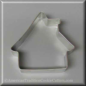 "3.5"" Gingerbread House Metal Cookie Cutter - American Tradition Cookie Cutters"