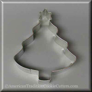 "4"" Tree with Star Metal Cookie Cutter-americantraditioncookiecutters"