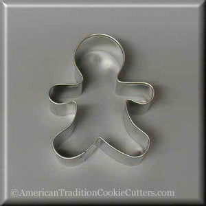 "3"" Gingerbread Boy Metal Cookie Cutter-americantraditioncookiecutters"