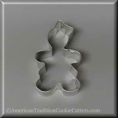 "3"" Gingerbread Girl Metal Cookie Cutter"