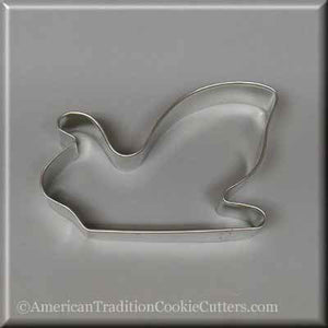 "4.75"" Santa's Sleigh Metal Cookie Cutter-americantraditioncookiecutters"