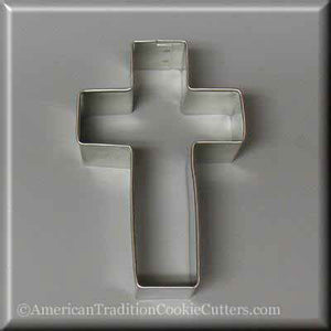 "4"" Cross Metal Cookie Cutter-americantraditioncookiecutters"
