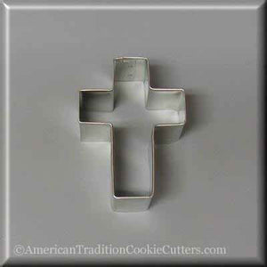 "2.75"" Cross Metal Cookie Cutter - American Tradition Cookie Cutters"