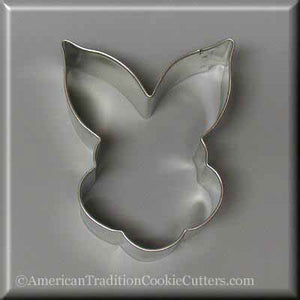 "3.5"" Bunny Face Metal Cookie Cutter - American Tradition Cookie Cutters"