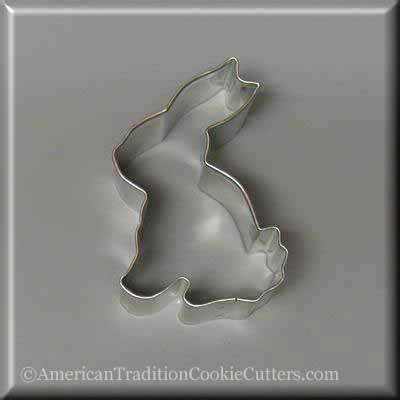 "3.25"" Sitting Bunny Metal Cookie Cutter - American Tradition Cookie Cutters"