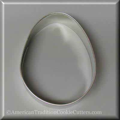 "4"" Easter Egg Metal Cookie Cutter"