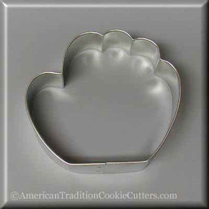 "3.5"" Baseball Glove Metal Cookie Cutter - American Tradition Cookie Cutters"